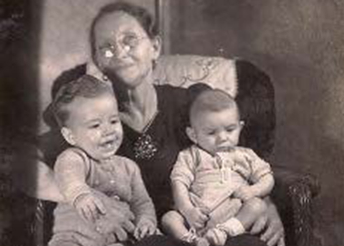 Ronnie and Danny with Grandma Amann
